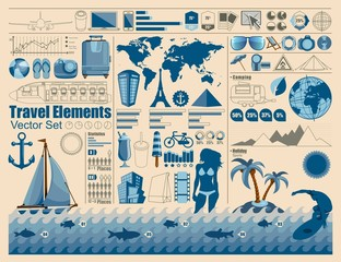 holiday elements, vector Info Graphics