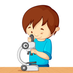 Kid with Microscope