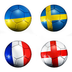 soccer ball flags