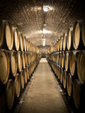 Fototapeta lufa - drewniany - Wino