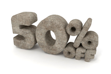 50 percent sale discount made of Stone