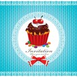Cute cupcake design template