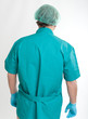 Rear view of a surgeon