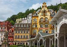 centre ville de Karlovy Vary, République tchèque