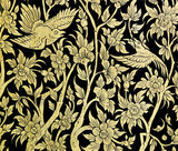 Ancient floral art in traditional Thai style