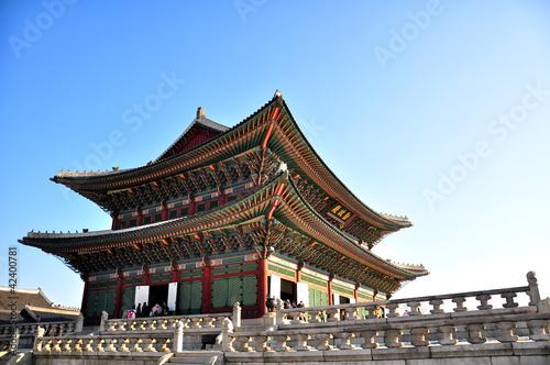 Poster Gyeongbokgung palace in Seoul, Korea