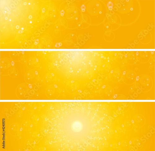 shiny sunlight summer concept web banners