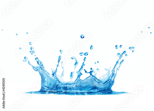 splash water isolated on white