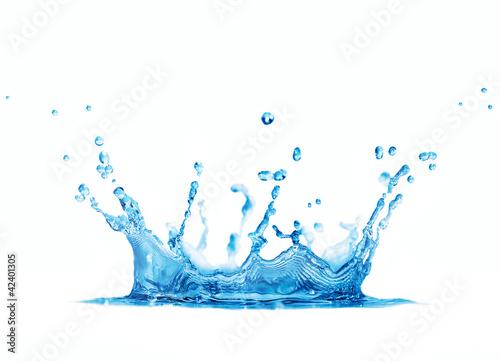 Leinwandbild Motiv splash water isolated on white