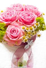 Brautstrauss Rosen Rosa