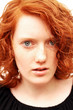 freckled redhead teenager