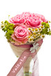 rosa Rosen zum Valentinstag