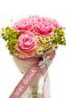 Brautstrauss Rosen Rosa   Viel Glück