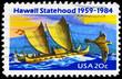 USA - CIRCA 1984 Polynesian Canoe