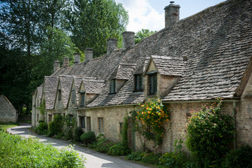 Arlington Row of Bibury in the Cotswolds, England