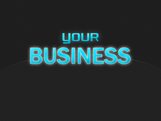Your Business dark background 2, light blue text, no globe