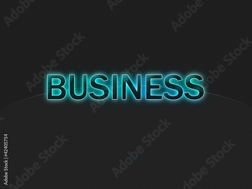 Dark background with light blue text Business