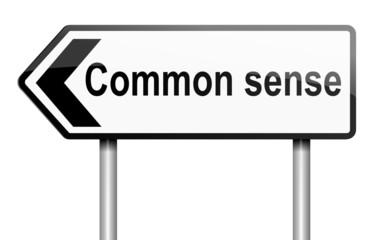 Common sense concept.