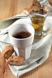 espresso, vin santo und cantuccini
