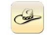 Botón sombrero oro