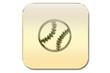 botón beisbol oro