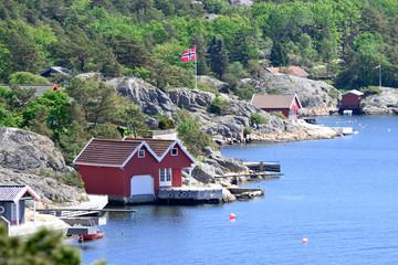 Skandinavische Küstenlandschaft