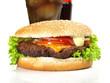 Cheeseburger mit Cola