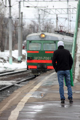 Suburban electric train.