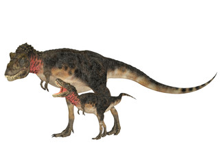 Adult and Young Tarbosaurus