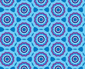 Seamless blue pattern background with stylized umbrella