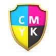 CMYK shield