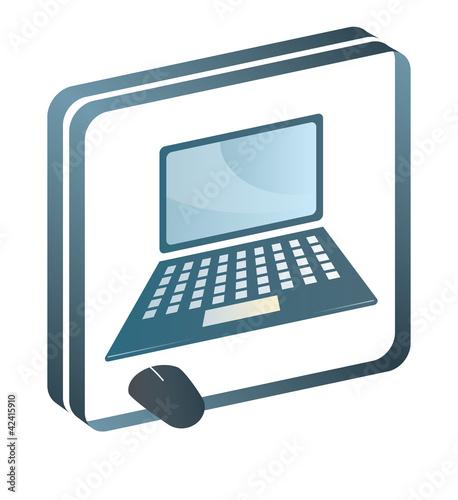 Internet Laptop Computer Web Mouse Piktogramm