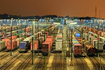 Güterbahnhof in Maschen - Hamburg