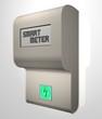 Leinwanddruck Bild - smart meter [intelligenter Stromzähler]