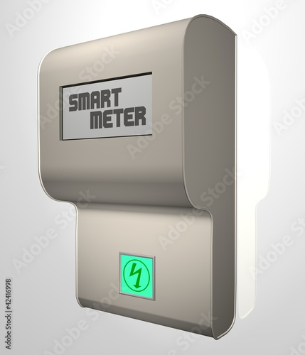 Leinwanddruck Bild smart meter [intelligenter Stromzähler]