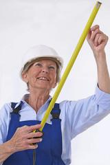 Femme active - Prise de mesures