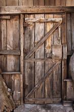 Drewniane drzwi szczegółowo