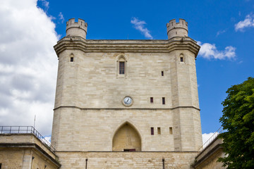 Vincennes Castle defensive wall and entrance tower