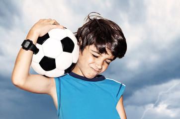 Football player celebrating victory