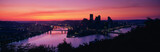 This is sunrise on the Allegheny and Monongahela Rivers where they meet the Ohio River. This is the view from Mount Washington.