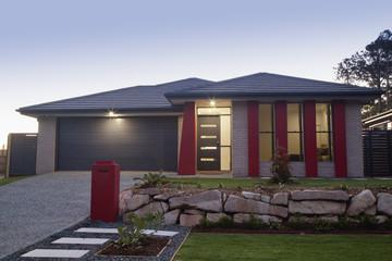 Suburban house front
