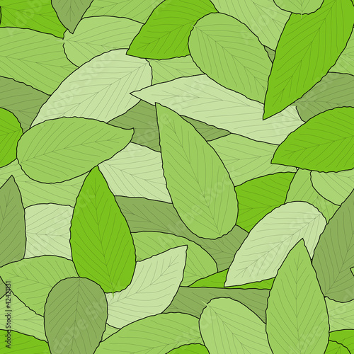 Seamless leaves background pattern