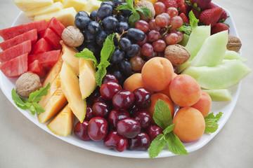 Summer fruit platter wide