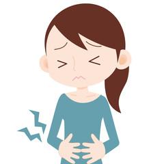 女性 上半身 腹痛