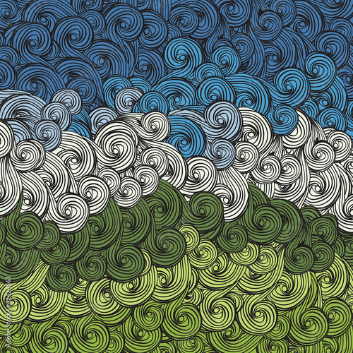 Earth and sky abstract background. Vector, eps8.
