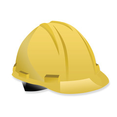 illustration of isolated yellow helmet on white background