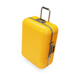 Yellow Suitcase isolated on white background
