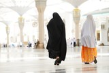 Two Muslim Arabic women walking