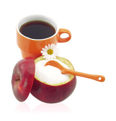 Cup of coffee with fructose