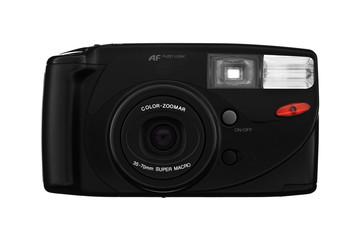 Klassische Kompaktkamera isoliert auf weiß
